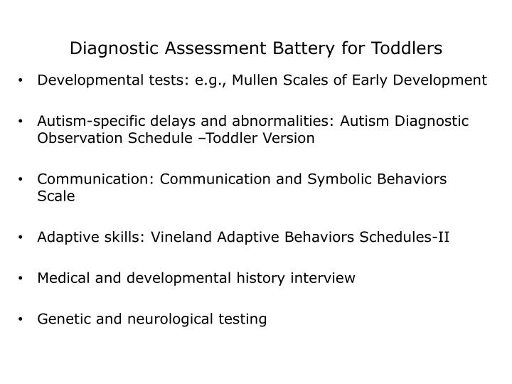 Diagnostic Assessment Battery for Toddlers