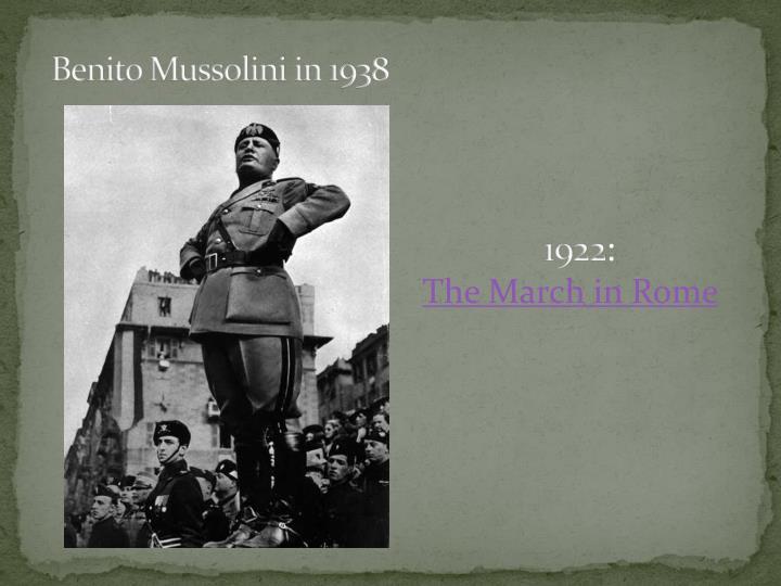 Benito Mussolini in 1938