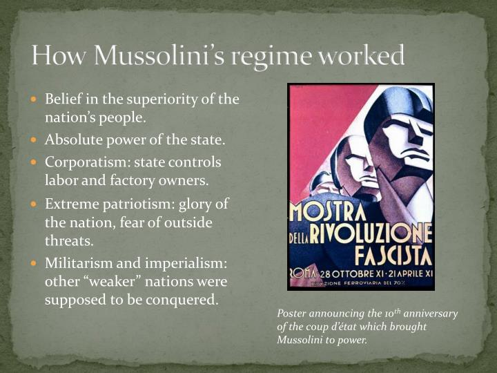 How Mussolini's regime worked