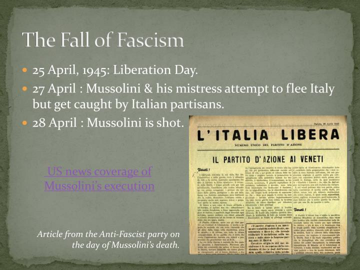 The Fall of Fascism
