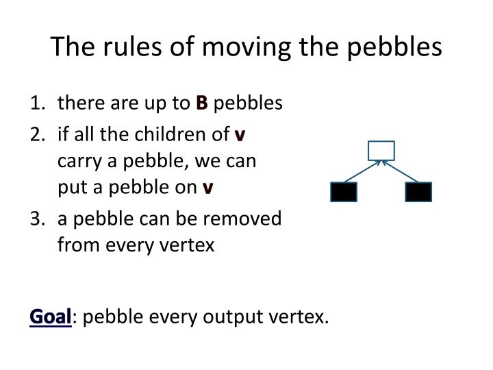 The rules of moving the pebbles