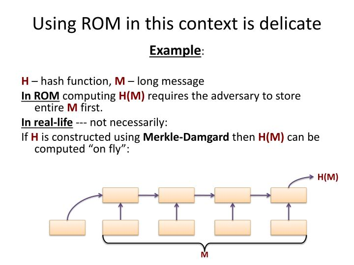 Using ROM in this context is delicate