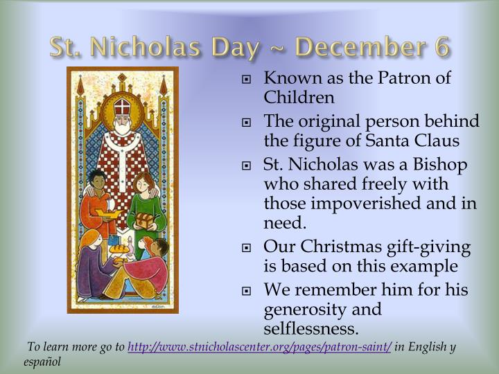 St. Nicholas Day ~ December 6