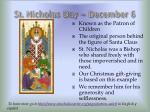 st nicholas day december 6