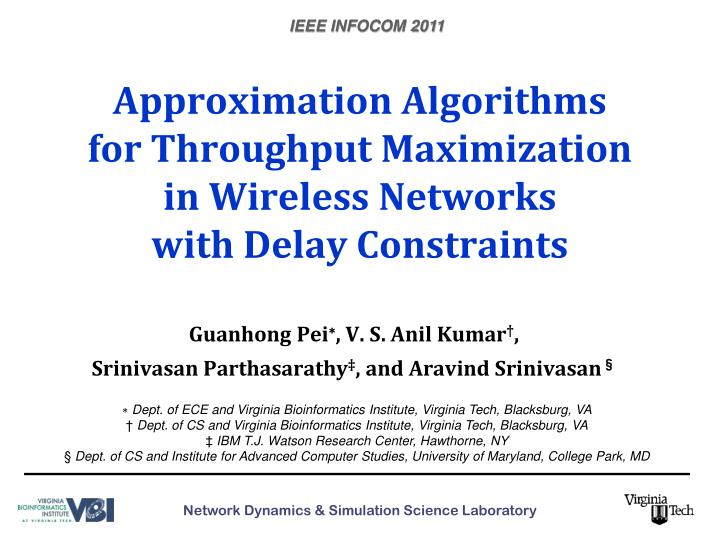 Approximation algorithms for throughput maximization in wireless networks with delay constraints