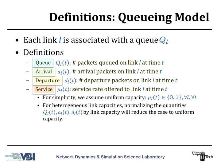 Definitions: Queueing Model