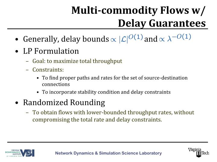 Multi-commodity Flows w/