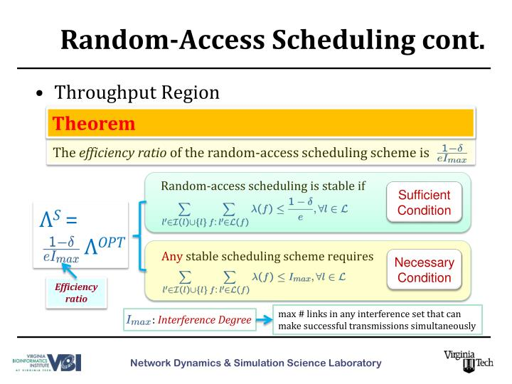 Random-Access Scheduling cont.