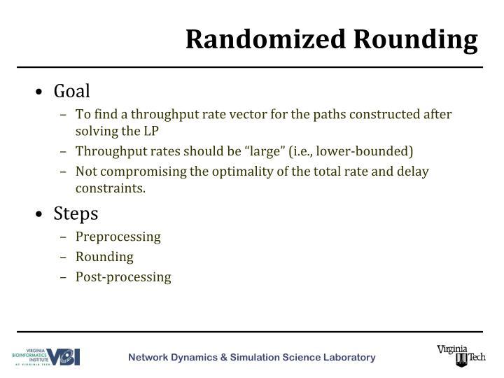 Randomized Rounding