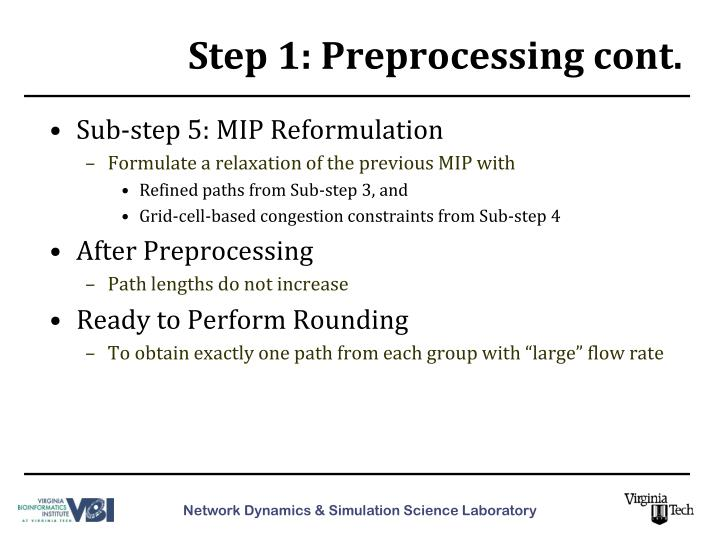 Step 1: Preprocessing cont.