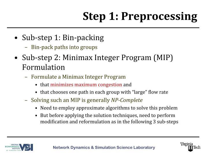 Step 1: Preprocessing