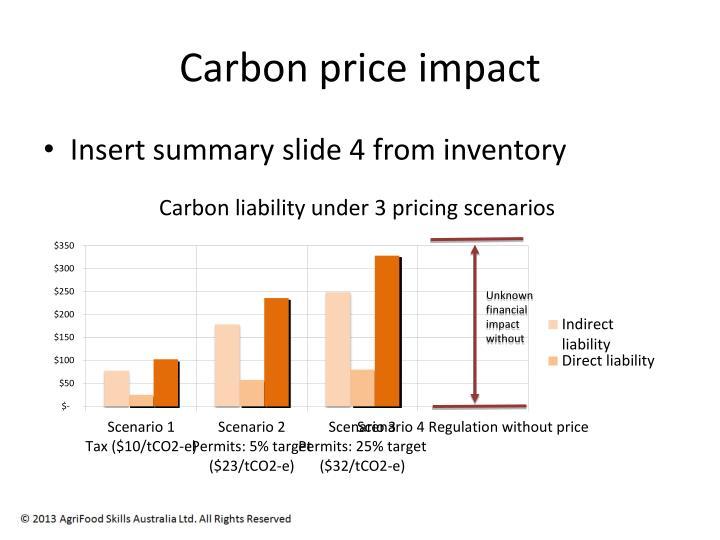 Carbon price impact