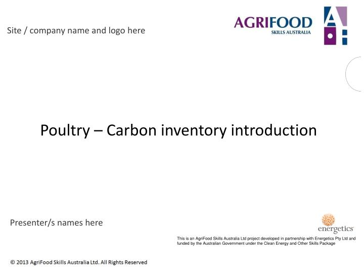 Poultry carbon inventory introduction
