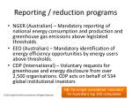 reporting reduction programs
