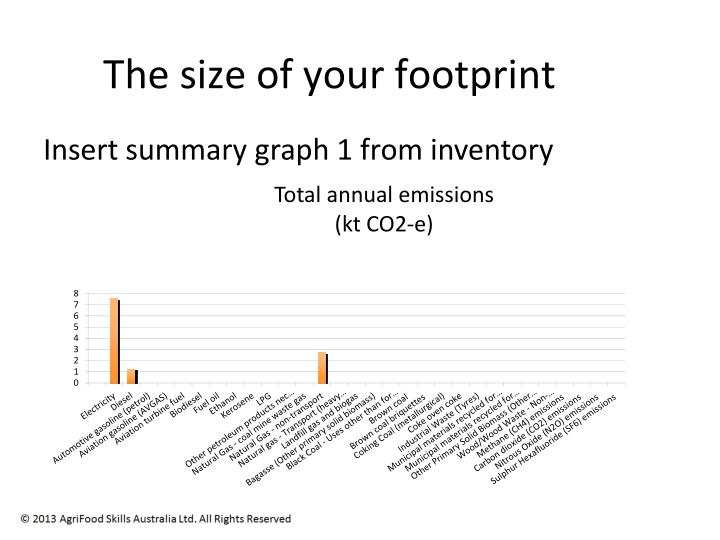 The size of your footprint