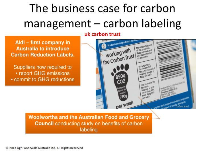 The business case for carbon management – car