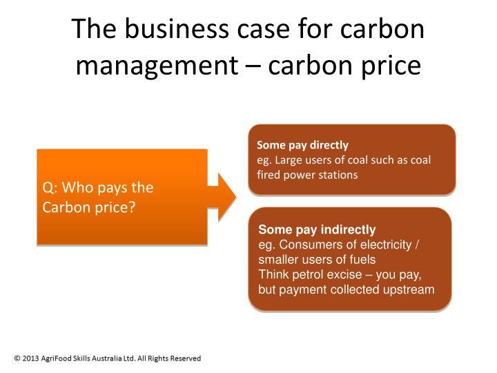 The business case for carbon management – carbon