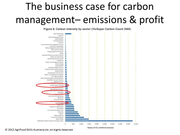 The business case for carbon management–