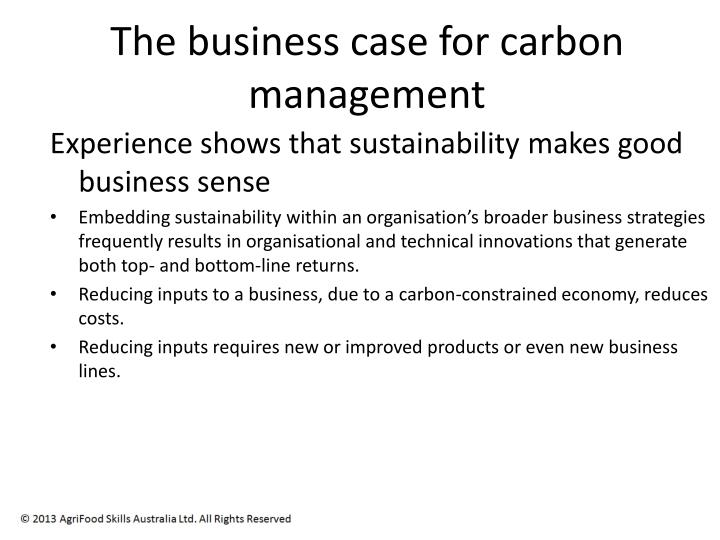 The business case for carbon management