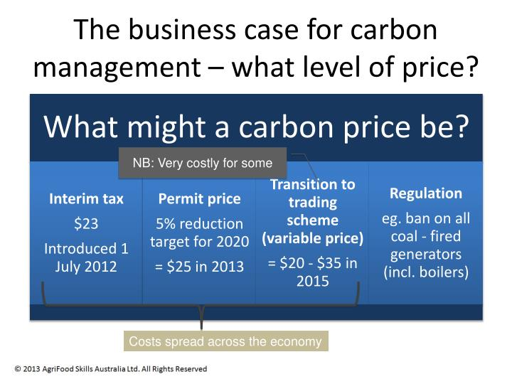 The business case for carbon management – what level of price?