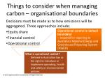 things to consider when managing carbon organisational boundaries