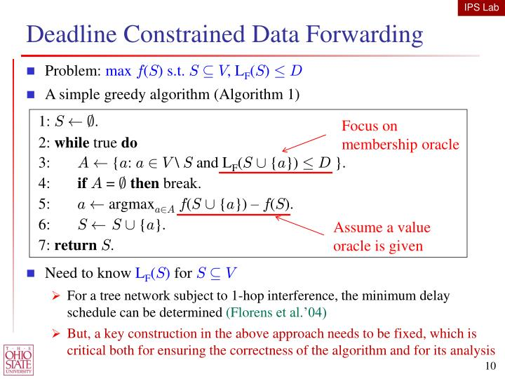 Deadline Constrained Data Forwarding