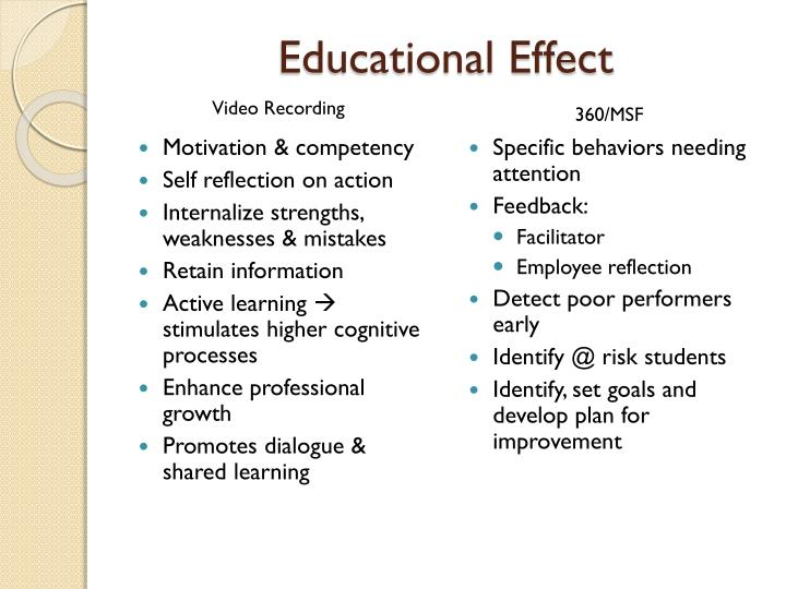Educational Effect