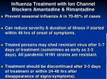 influenza treatment with ion channel blockers amantadine rimantadine