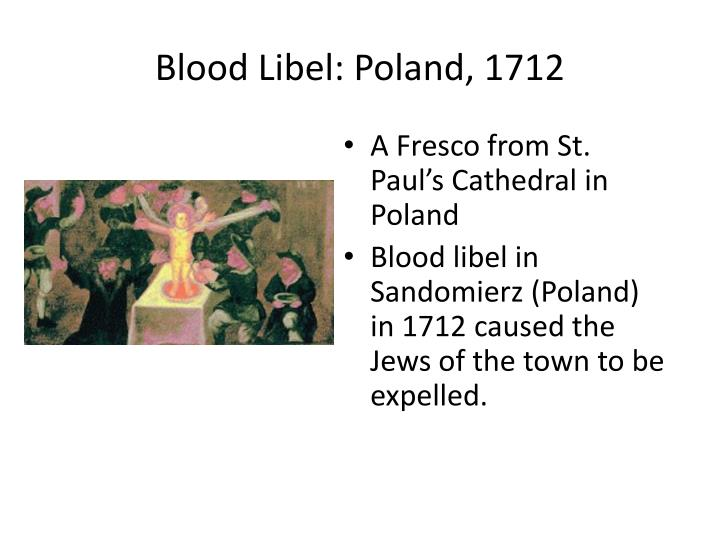 Blood Libel: Poland, 1712