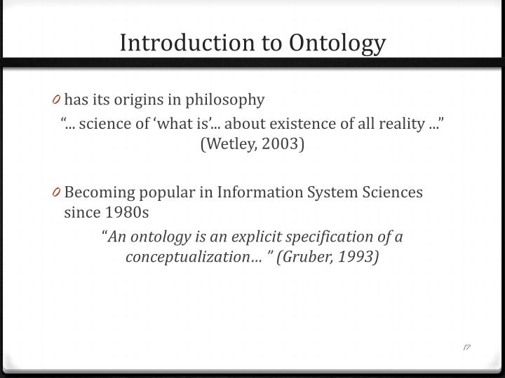 Introduction to Ontology