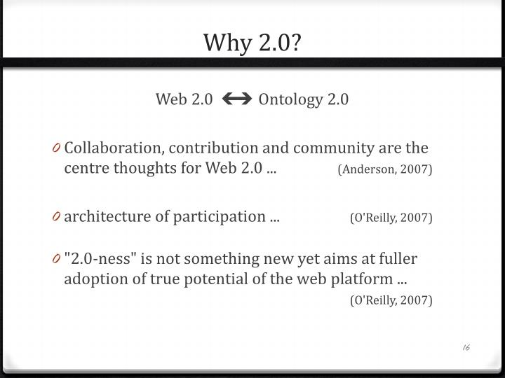 Why 2.0?