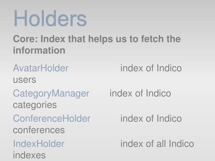 Holders
