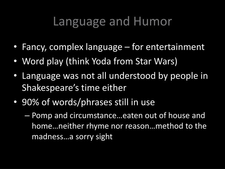 Language and Humor
