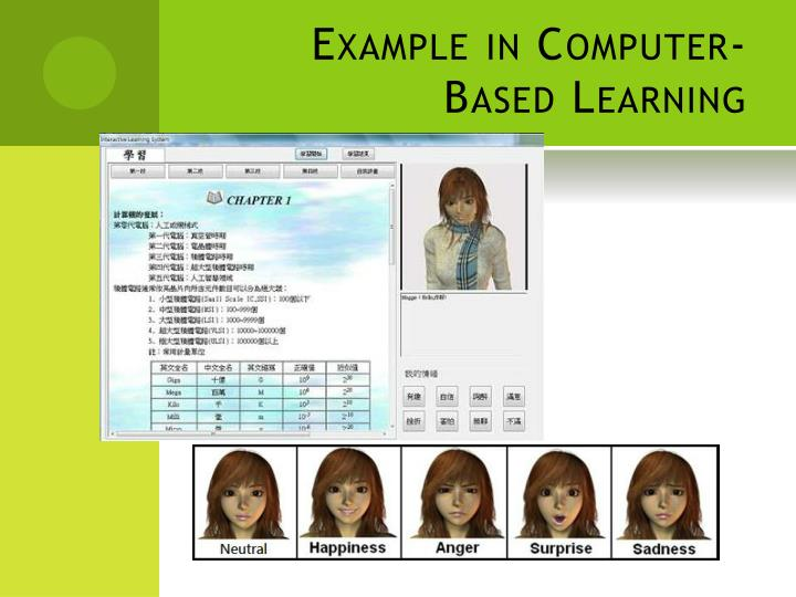 Example in Computer-Based Learning
