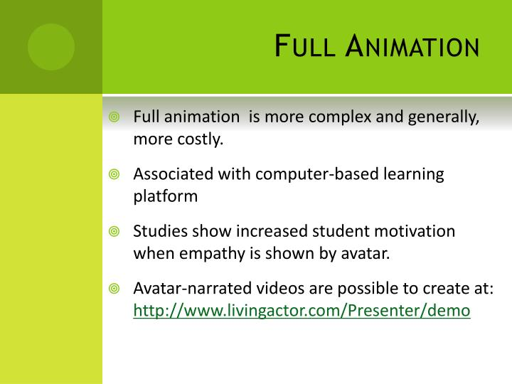 Full Animation