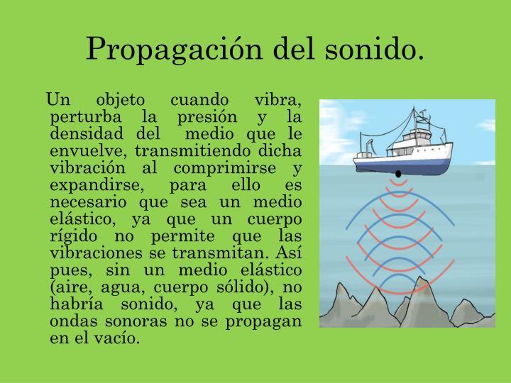 Propagación del sonido.