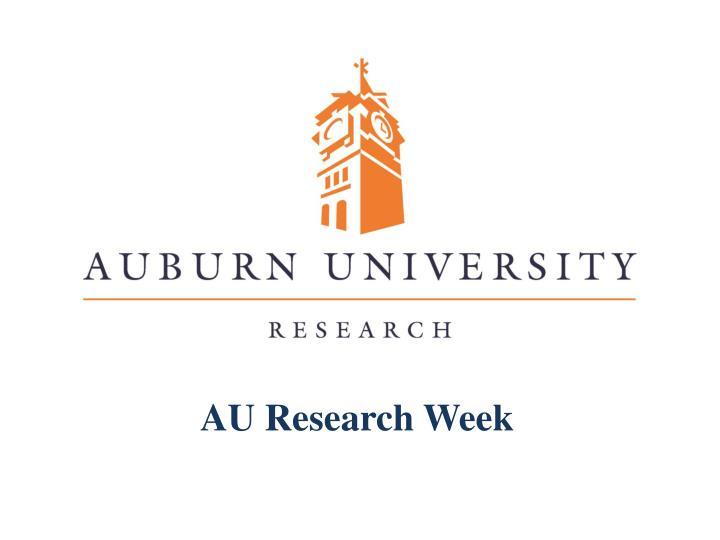 AU Research Week