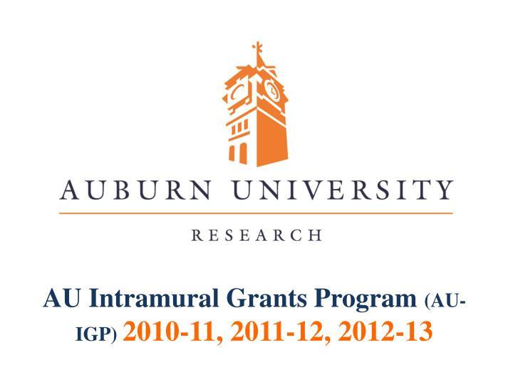 AU Intramural Grants Program
