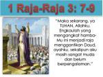 1 raja raja 3 7 9