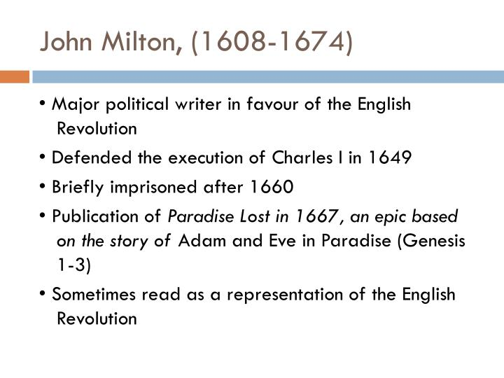 John Milton, (1608-1674)