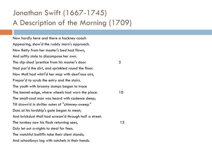Jonathan Swift (1667-1745)