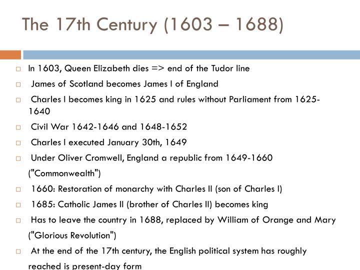 The 17th Century