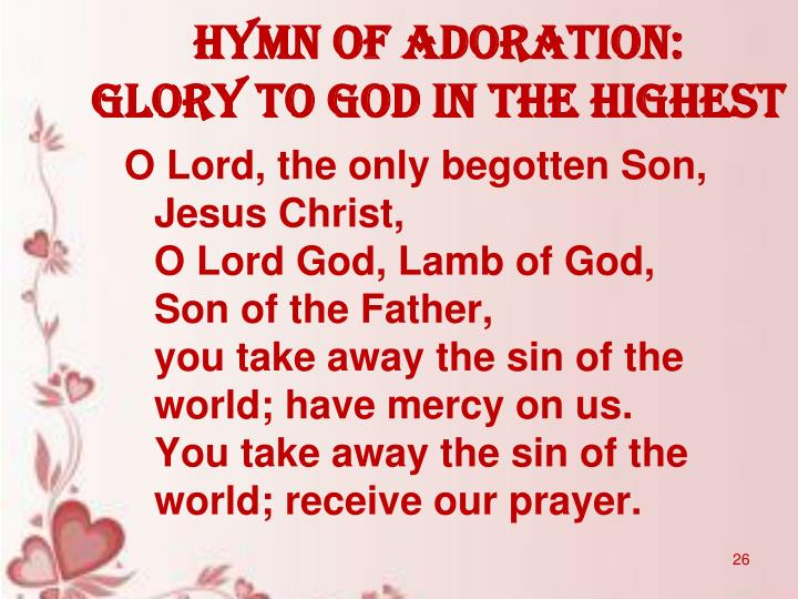 HYMN OF ADORATION: