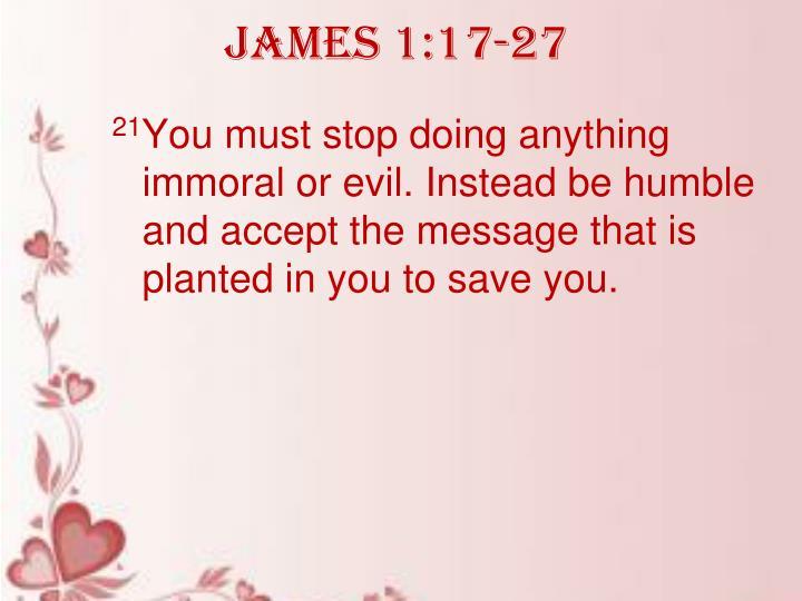 James 1:17-27
