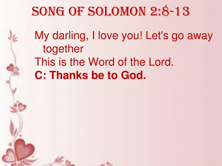 Song of Solomon 2:8-13