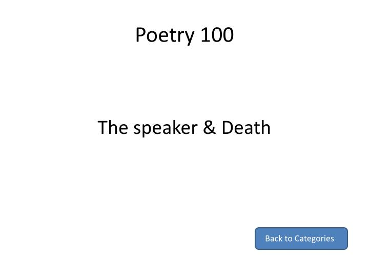 Poetry 100