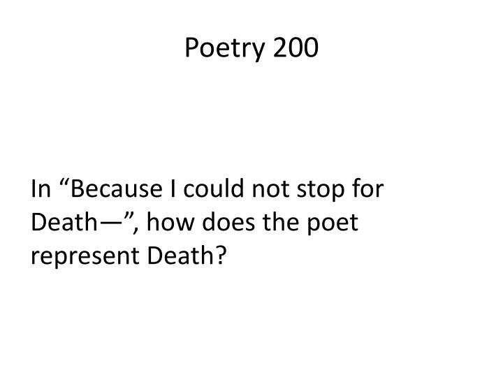 Poetry 200