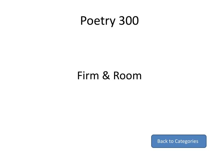 Poetry 300