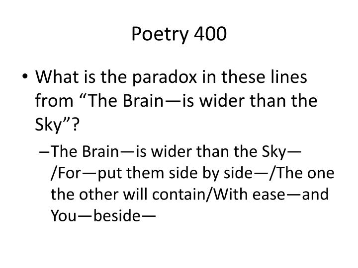 Poetry 400