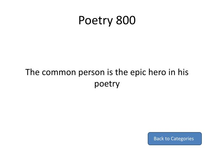 Poetry 800